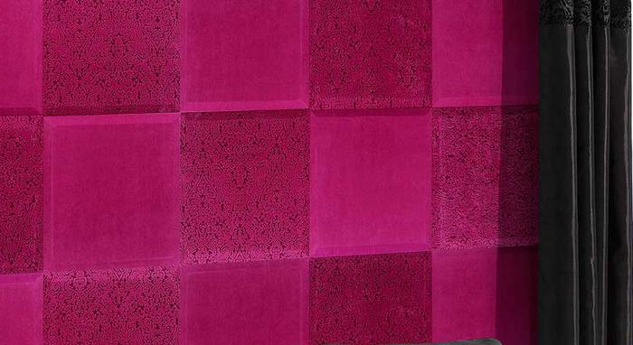 pbdesign - purpurowe panele naścianach